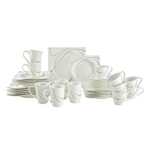 Ritzenhoff Breker KOMBINOVANÝ SERVIS, 36-dielne, porcelán - hnedá, biela