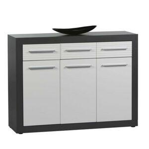 Xora KOMODA SIDEBOARD, sivá, biela, 117/88/37 cm - sivá, biela