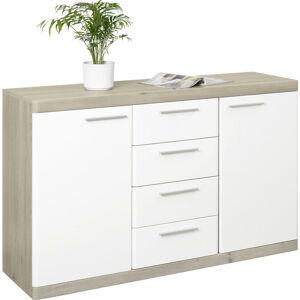 Xora KOMODA SIDEBOARD, biela, farby dubu, 135/92/43 cm - biela, farby dubu