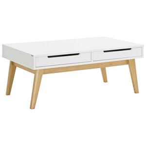 Hom`in KONFERENČNÝ STOLÍK, biela, farby dubu, drevo, kompozitné drevo, 110/65/46 cm - biela, farby dubu