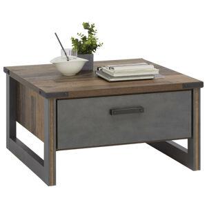 Hom`in KONFERENČNÝ STOLÍK, sivá, farby pínie, kompozitné drevo, 80/80/44 cm - sivá, farby pínie