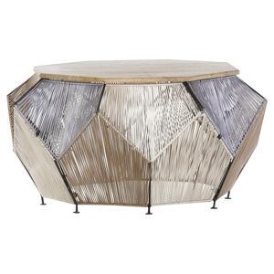 Carryhome KONFERENČNÝ STOLÍK, viacfarebná, drevo, kov, textil, 85/85/45 cm - viacfarebná