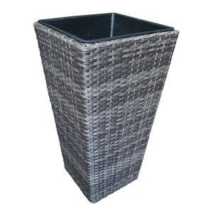 Ambia Garden KVETINÁČ NA RASTLINY, kov, plast, 36/70/36 cm - sivá