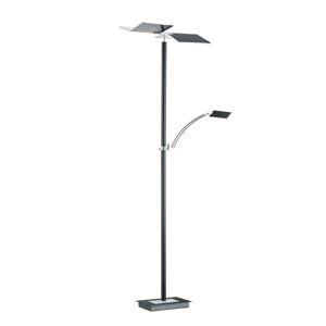 LED STOJACIA LAMPA, 182 cm - antracitová