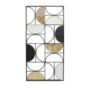 Ambia Home NÁSTENNÁ DEKORÁCIA, 98/5/49,5 cm - čierna, biela, zlatá