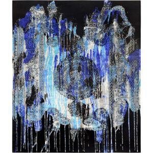 Esposa ORIENTÁLNY KOBEREC, 150/200 cm, modrá, čierna, biela - modrá, čierna, biela
