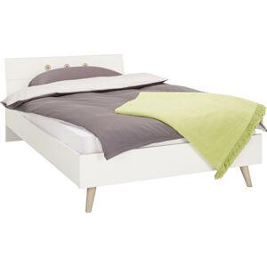 Modern Living POSTEĽ, 140/200 cm, drevo, kompozitné drevo, biela, farby dubu - biela, farby dubu