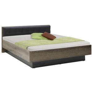 Carryhome POSTEĽ, 140/200 cm, kompozitné drevo, čierna, biela, farby dubu - čierna, biela, farby dubu