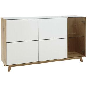 Dieter Knoll PRÍBORNÍK/KOMODA, dub, biela, farby dubu, 164/92/40 cm - biela, farby dubu