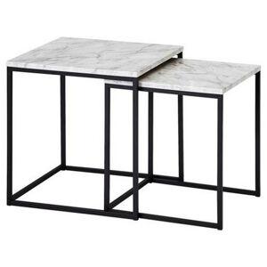 MID.YOU SADA ZASÚVACÍCH STOLÍKOV, čierna, biela, kompozitné drevo, 40/40/42,5 cm