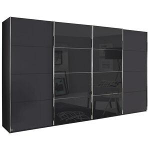 Novel SKRIŇA S POS. DVER. – HOR.VED., grafitová, čierna, 361/235/68 cm - grafitová, čierna