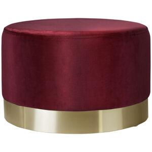 Xora TABURET, kov, textil, 35/42/35 cm - zlatá, bordová