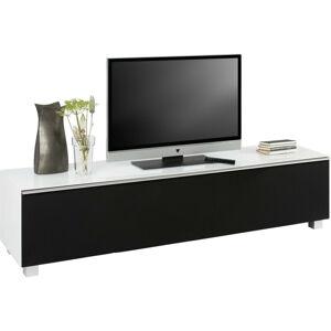 TV DIEL, čierna, biela, 180/43/42 cm - čierna, biela