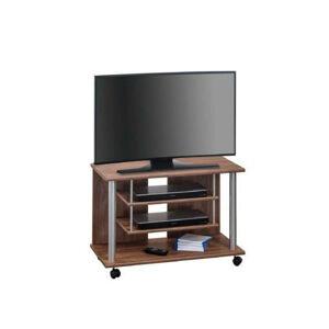 Carryhome TV STOJAN, farby dubu, farby hliníka, 80/55/40 cm - farby dubu, farby hliníka