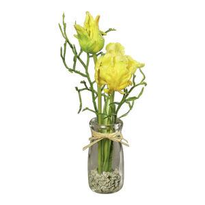 UMELÝ KVET tulipán 25 cm - žltá