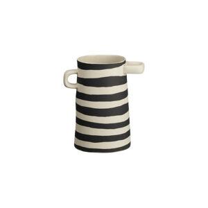 ASA VÁZA, keramika, 17 cm - čierna, béžová