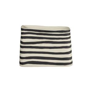 ASA VÁZA, keramika, 17 cm - prírodné farby, čierna, biela