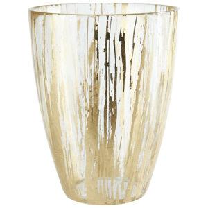 Ambia Home VÁZA, sklo, 15 cm - zlatá