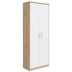 Xora VIACÚČELOVÁ SKRIŇA, biela, farby dubu, 72/194/36 cm - biela, farby dubu